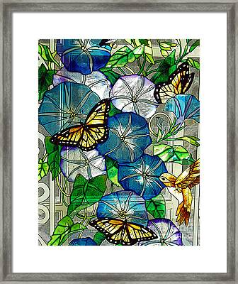 Morning Glory Framed Print by Diane E Berry