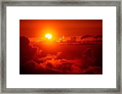 Framed Print featuring the photograph Morning Glory by Gary Cloud