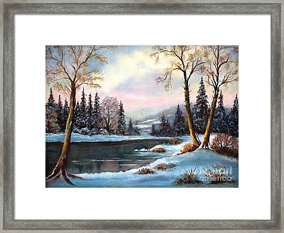 Framed Print featuring the painting Morning Glory by Hazel Holland