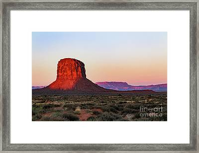 Morning Glory In Monument Valley Framed Print