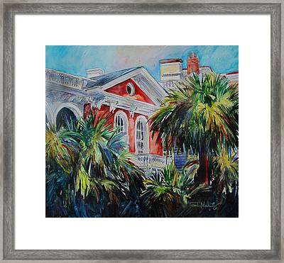 Morning Glory On The Battery Framed Print by Trish McKinney