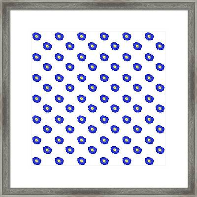 Morning Glory Pattern Framed Print