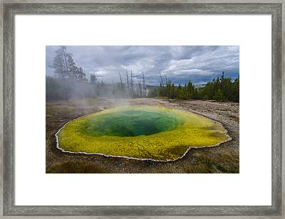 Framed Print featuring the photograph Morning Glory Pool by Gary Lengyel