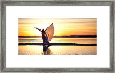 Framed Print featuring the photograph Morning Glory Wide by Dario Infini
