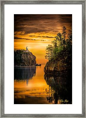 Morning Glow Against The Light Framed Print by Rikk Flohr