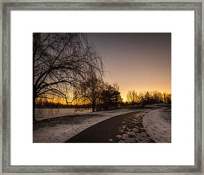 Morning Glow Along Hoyt Lake Framed Print
