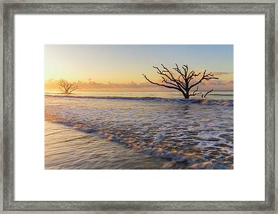 Morning Glow At Botany Bay Beach Framed Print