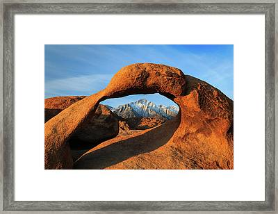 Morning Glow At Mobius Arch. Framed Print