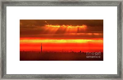 Framed Print featuring the photograph Morning Glow by Tatsuya Atarashi