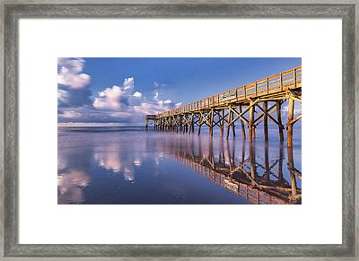 Morning Gold - Isle Of Palms, Sc Framed Print