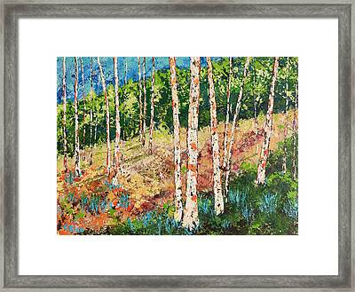 Framed Print featuring the painting Morning Grove by Chris Rice