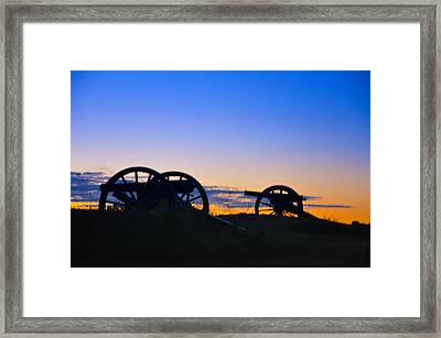 Morning Guns At Gettysburg Framed Print