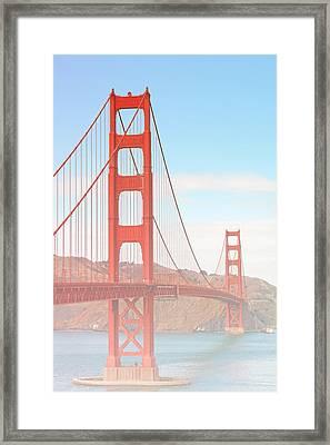 Morning Has Broken - Golden Gate Bridge San Francisco Framed Print by Christine Till