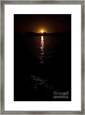 Framed Print featuring the photograph Morning Has Broken by Tamyra Ayles