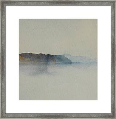 Morning Haze In The Swedish Archipelago On The Westcoast.2 Up To 28 X 28 Framed Print