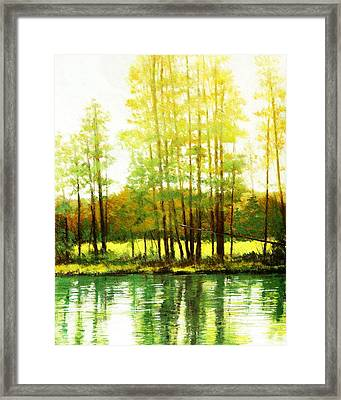 Morning Haze Framed Print by Mark Henthorn