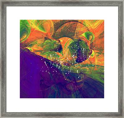 Morning Heat Abstract Framed Print