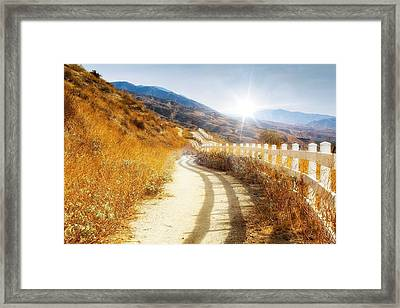 Morning Hike Framed Print