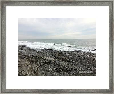 Morning Horizon On The Atlantic Ocean Framed Print