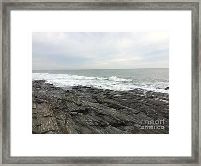 Morning Horizon On The Atlantic Ocean Framed Print by Patricia E Sundik