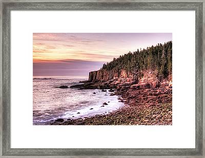 Morning In Acadia Framed Print