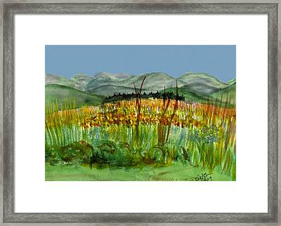 Framed Print featuring the painting Morning In Backyard At Barton by Donna Walsh