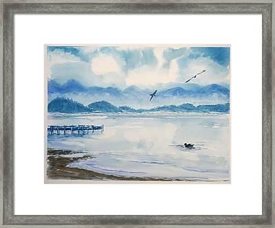 Morning In Blue Framed Print by Yuliya Schuster