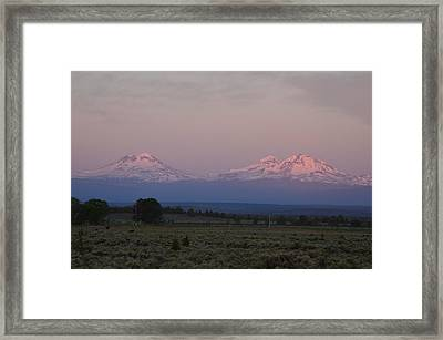 Morning In Central Oregon Framed Print