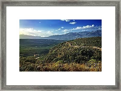 Morning In Crete Framed Print
