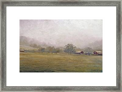 Framed Print featuring the painting Morning In Georgia by Andrew King