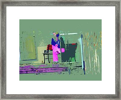 Morning In Her Pink Pajamas Framed Print by Lenore Senior