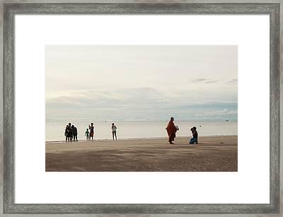 Morning In Huahin Framed Print