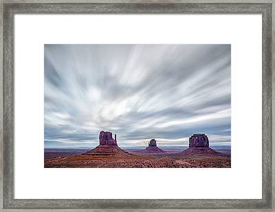 Framed Print featuring the photograph Morning In Monument Valley by Jon Glaser
