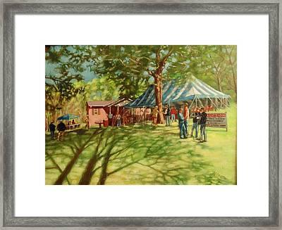 Morning In Ringgold Framed Print by Janet McGrath