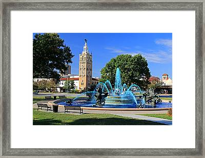 Morning In Royal Blue Framed Print