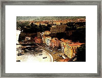 Morning In Sorrento Italy Framed Print by Xavier Cardell