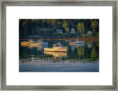 Morning In Tenants Harbor Framed Print