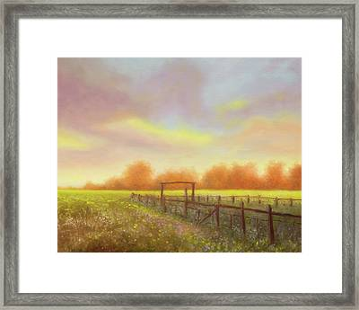 Morning In Texas - No 5 Framed Print by Rob Blauser