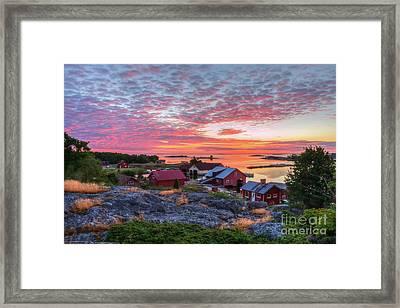 Morning In The Archipelago Sea Framed Print by Veikko Suikkanen