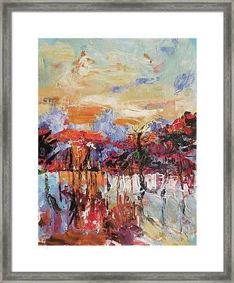 Morning In The Garden Framed Print by Kovacs Anna Brigitta