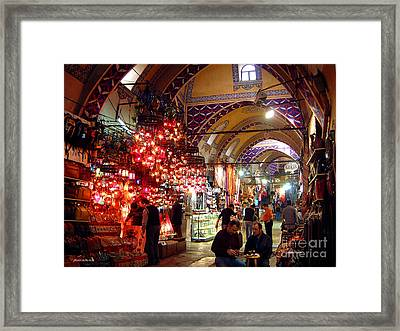 Morning In The Grand Bazaar Framed Print by Mike Reid
