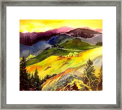 Morning In The Hills Framed Print