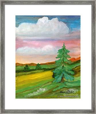 Morning In The Mountains Framed Print by Anna Folkartanna Maciejewska-Dyba