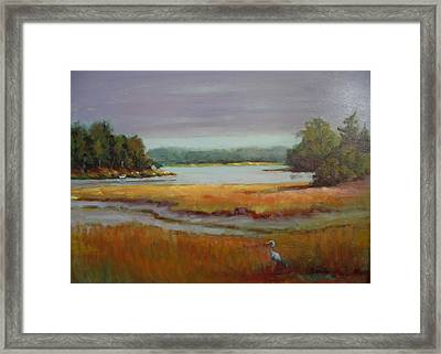 Morning In The Salt Marsh Framed Print