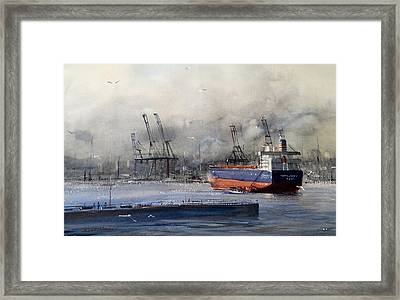 Morning In Vancouver Framed Print by Sandra Strohschein