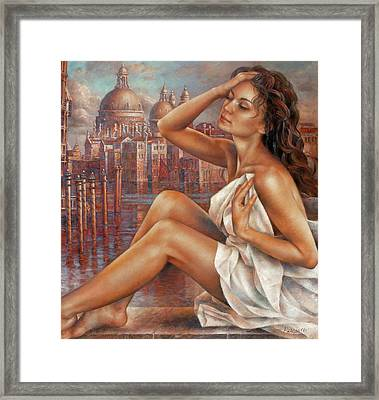 Morning In Venice Framed Print by Arthur Braginsky