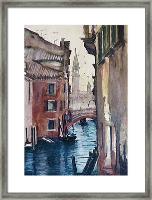 Framed Print featuring the painting Morning In Venice by Geni Gorani