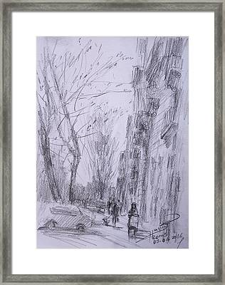 morning in Via Nomentana Rome Framed Print by Ylli Haruni
