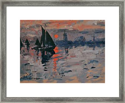 Morning In Zaanse Schans Framed Print