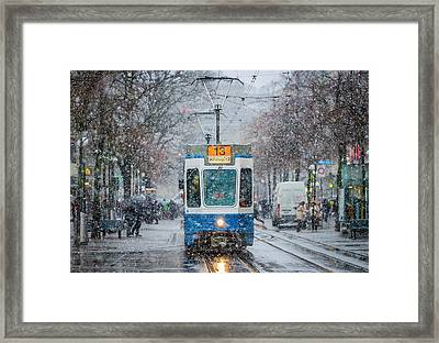 Morning In Zurich Framed Print by Attila Szabo
